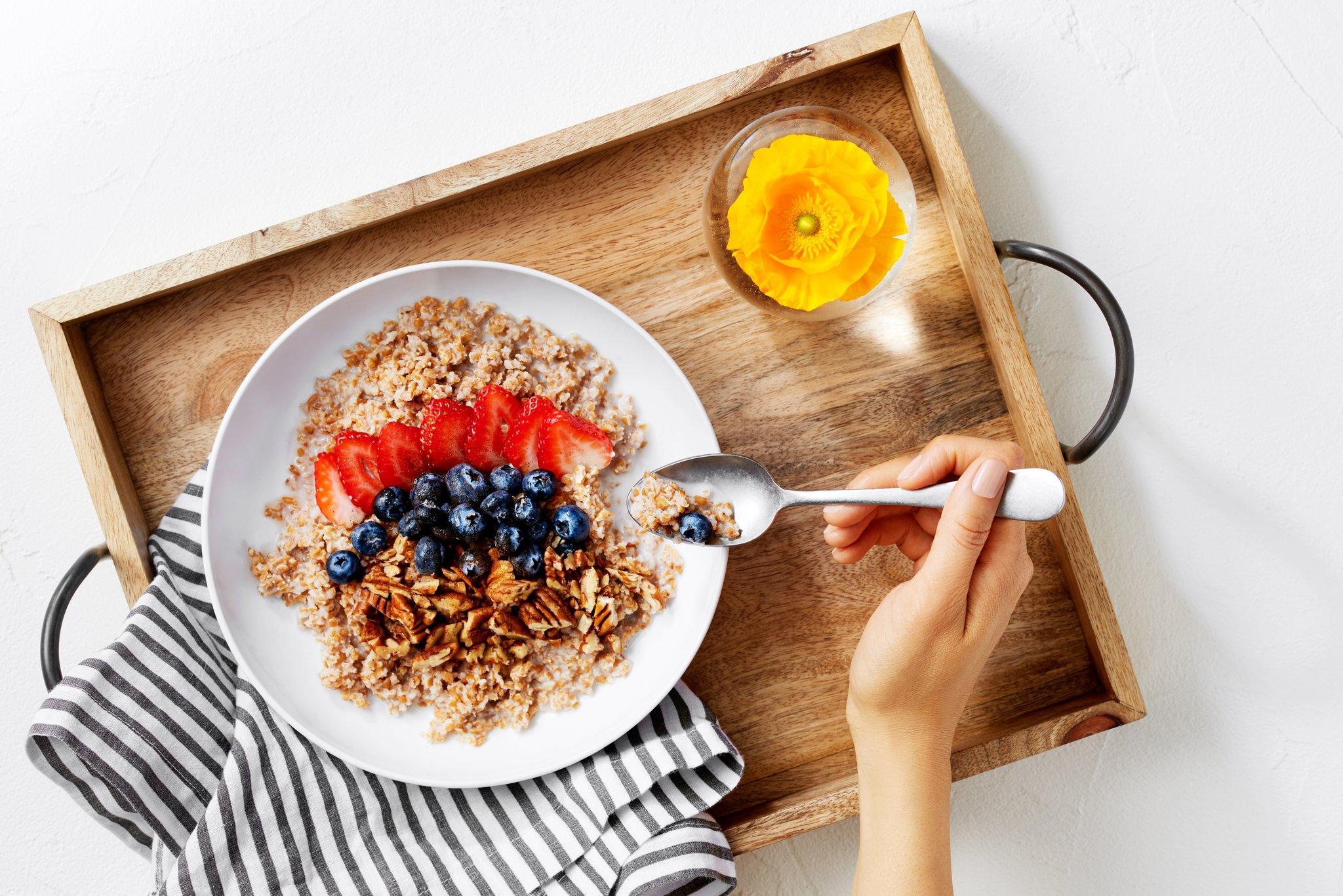 لاغری شکم با صبحانه