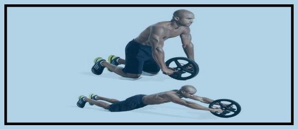 تمرین سیکس پک : رول کردن با چرخ