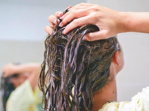 درمان موی چرب با ماسک مو