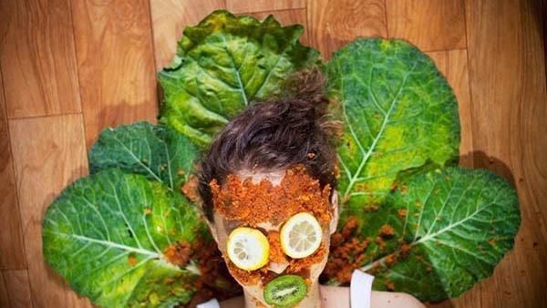 ماسک صورت برای پوست چرب و سبزیجات